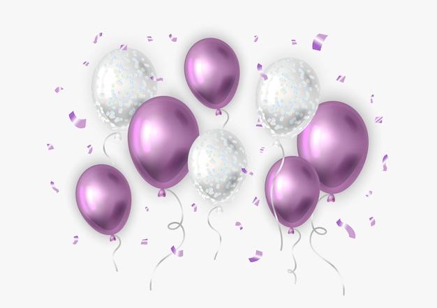 Realistyczne balony z konfetti.