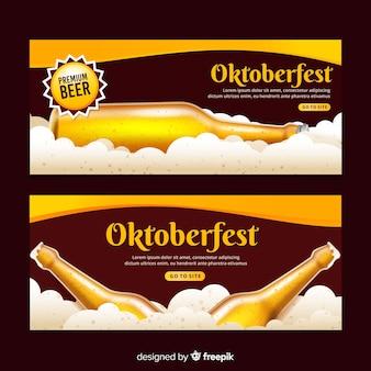Realistyczne banery oktoberfest