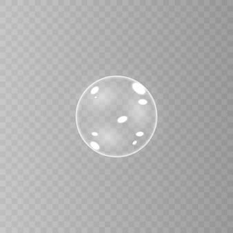 Realistyczne baniek mydlanych z odbiciem tęczy zestaw na białym tle ilustracji.