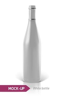 Realistyczne białe butelki wina lub koktajlu