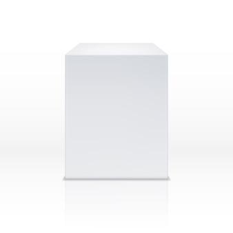 Realistyczne białe pudełko