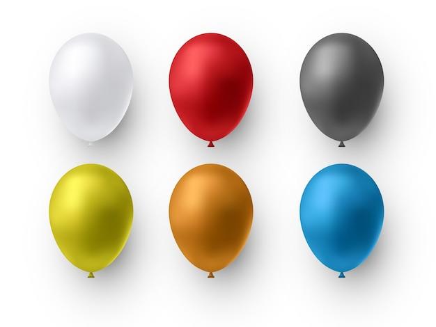 Realistyczne błyszczące kolorowe balony balony na urodziny imprezy wakacyjne przyjęcia wesela festiwal ilustracji romantycznych dekoracji