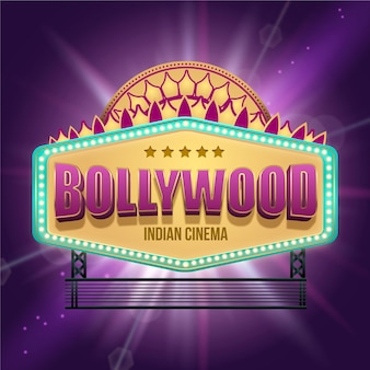 Realistyczne bollywood kino indyjskie znak
