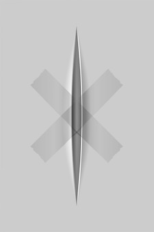 Realistyczne cięcia papieru nożem z przezroczystym tłem