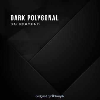 Realistyczne ciemne tło wielokątne