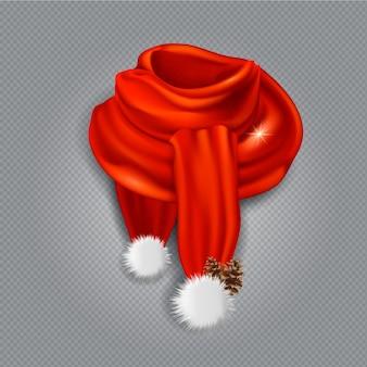 Realistyczne ciepłe ubrania na szalik świętego mikołaja
