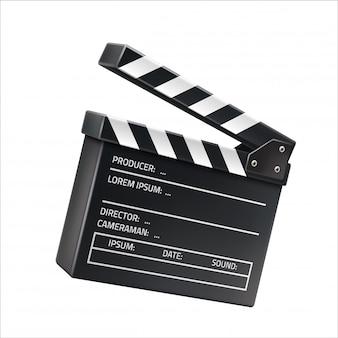 Realistyczne clapboard filmowy, znak kręcenia filmu