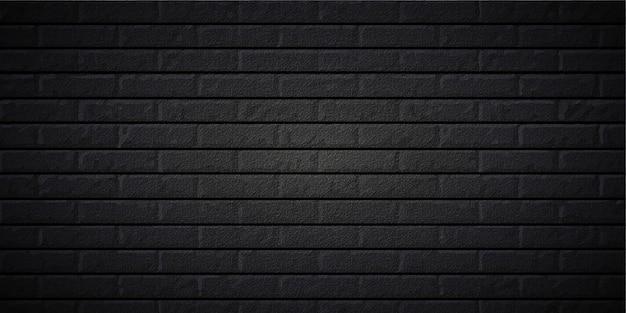 Realistyczne czarne tło z cegły w edytowalnym pliku eps cc