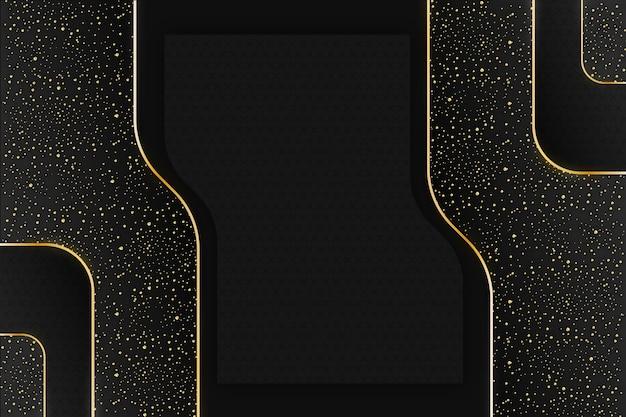 Realistyczne czarne tło ze złotymi teksturami