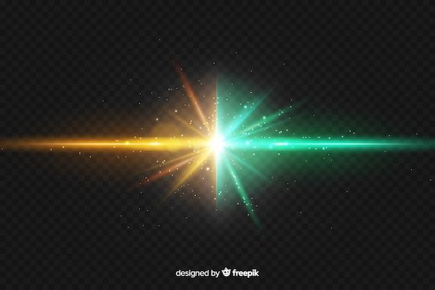 Realistyczne dwie siły efekt świetlny tła