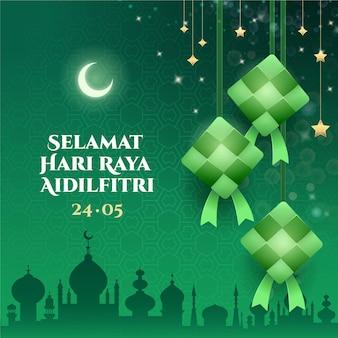 Realistyczne eid al-fitr - ilustracja hari raya aidilfitri