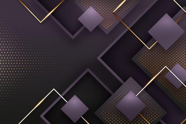 Realistyczne eleganckie kształty geometryczne tło