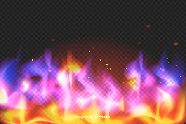 Realistyczne flamy kolorowe tło