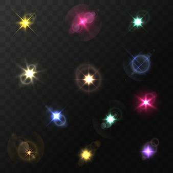 Realistyczne flary świetlne, podświetlenie