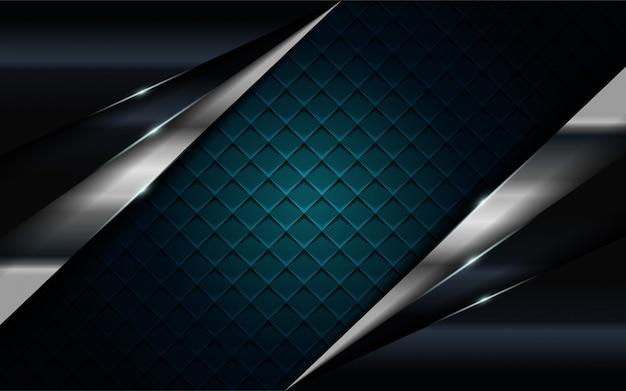 Realistyczne granatowe połączenie ze srebrną i czarną linią teksturowanej tło