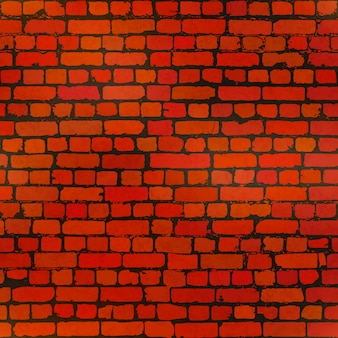 Realistyczne grunge cegły w zużyty wzór ceglany mur