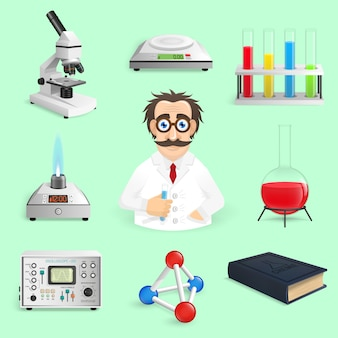 Realistyczne ikony nauki