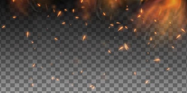 Realistyczne iskry ognia