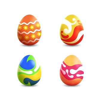 Realistyczne jajka wielkanocne z płynnym efektem
