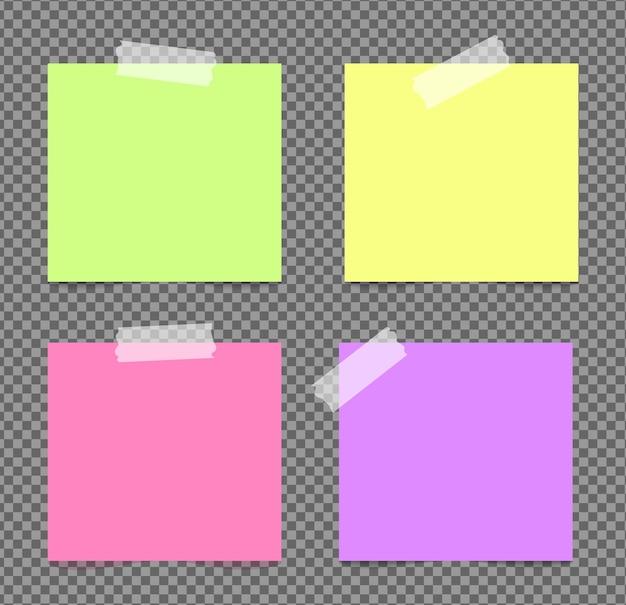 Realistyczne karteczki na białym tle