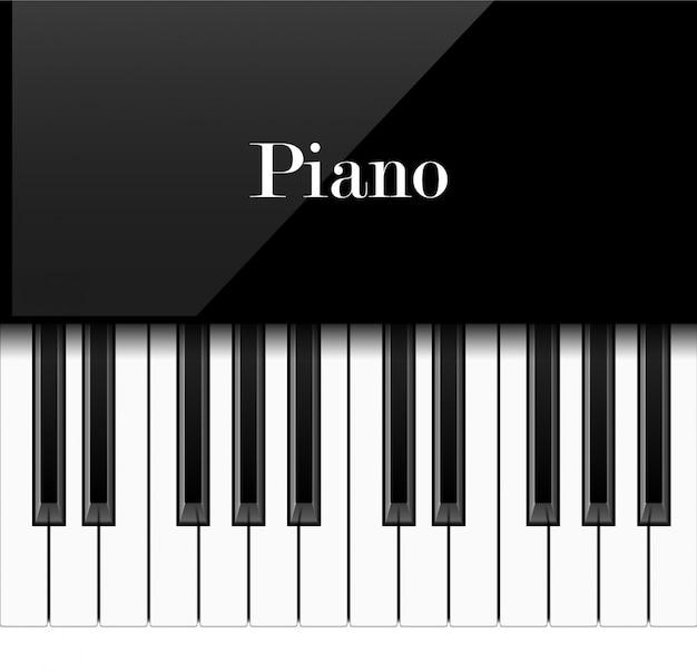 Realistyczne klawisze fortepianu, ilustracja