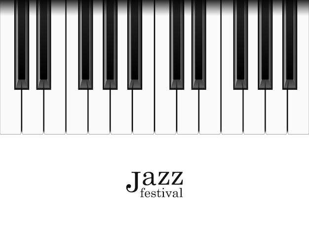 Realistyczne klawisze fortepianu