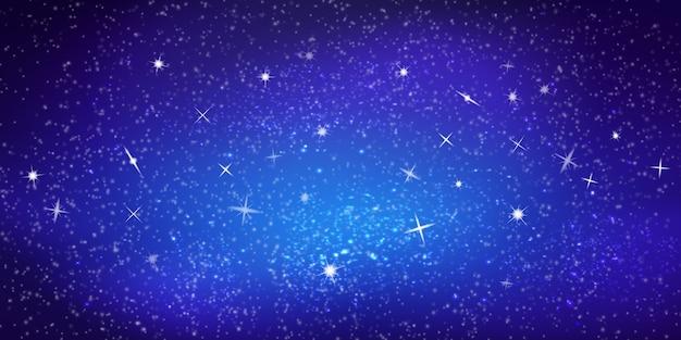 Realistyczne kolorowe ilustracje. jasne kosmiczne tło z gwiazdami i konstelacjami. przestrzeń międzygwiazdowa. temat astronomii i nauki. tapeta galaxy. streszczenie nocne niebo.