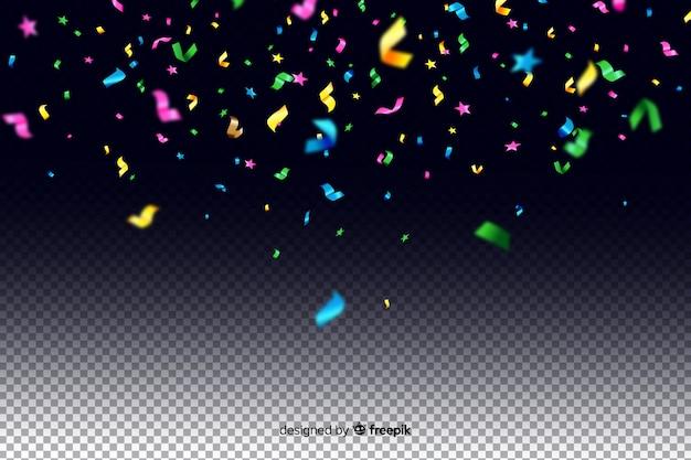 Realistyczne kolorowe konfetti tło
