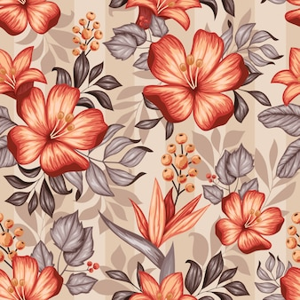 Realistyczne kolorowe kwiatowy bez szwu