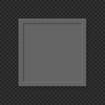 Realistyczne kwadrat pusty obraz ramki na przezroczystym tle.