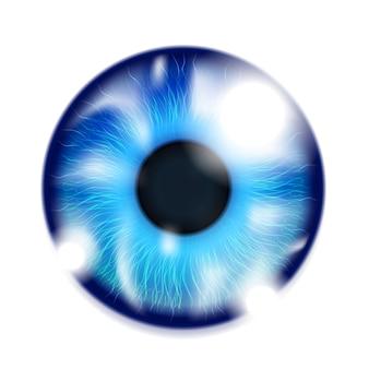 Realistyczne ludzkie oko na białym tle