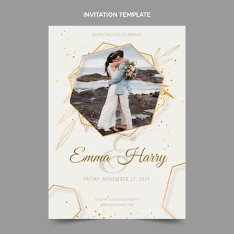 Realistyczne luksusowe zaproszenie na ślub
