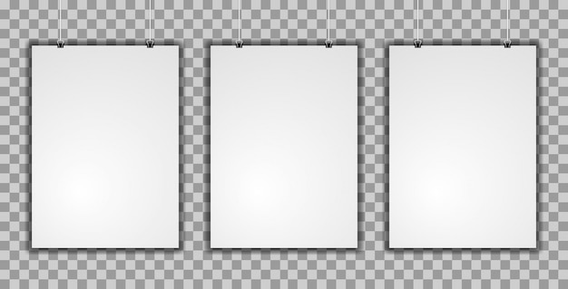 Realistyczne makieta trzy plakat pionowy