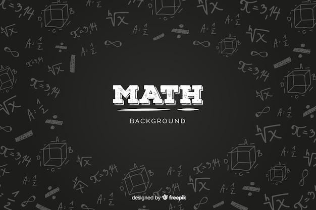 Realistyczne Matematyka Tablica Tło Premium Wektorów