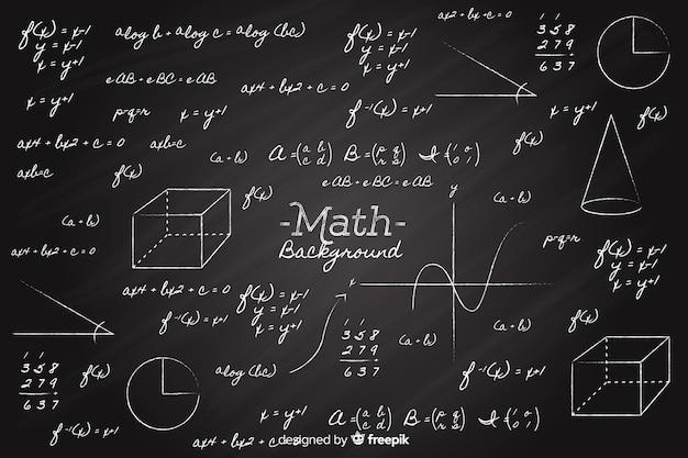 Realistyczne Matematyka Tablica Tło Darmowych Wektorów