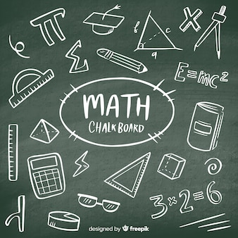 Realistyczne matematyka tablica tło