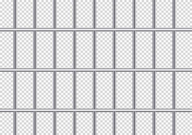 Realistyczne metalowe kratki więzienne