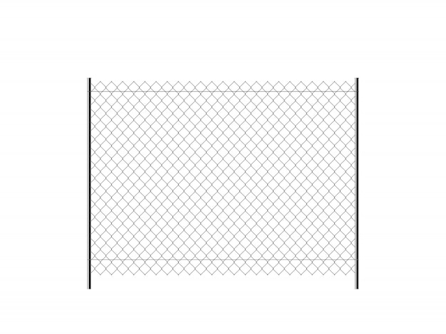 Realistyczne metalowe ogrodzenie łańcucha.