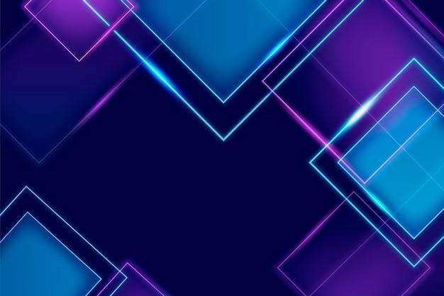 Realistyczne neony kwadraty tło