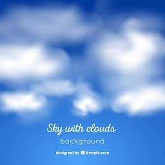 Realistyczne niebo z chmurami