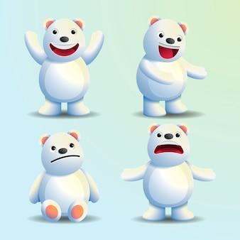 Realistyczne niedźwiadkowe postaci z kreskówek na boże narodzenie