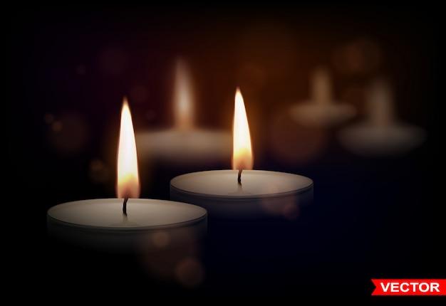 Realistyczne okrągłe świece woskowe