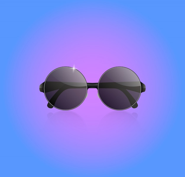 Realistyczne okulary wektor.