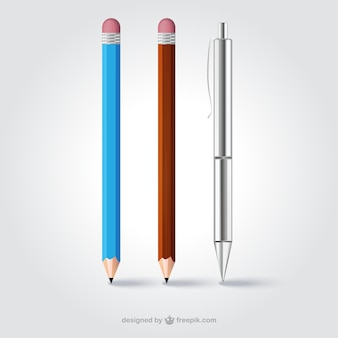 Realistyczne ołówki i pióra