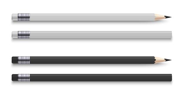 Realistyczne ołówki z gumką