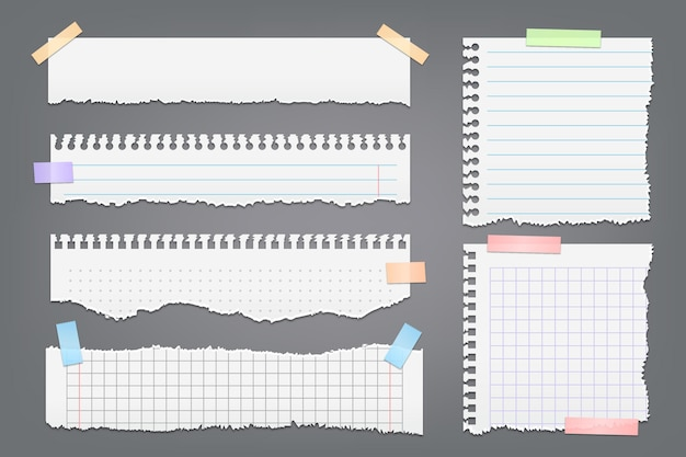 Realistyczne opakowanie podartego papieru