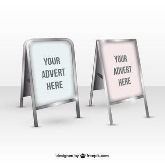 Realistyczne plakat makiety