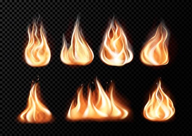 Realistyczne płomienie ognia