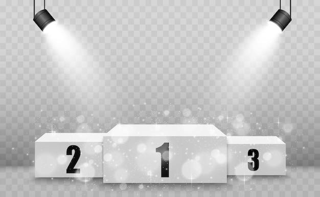 Realistyczne podium lub platforma zwycięzców