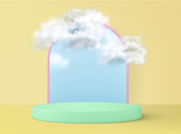 Realistyczne podium w renderowaniu 3d